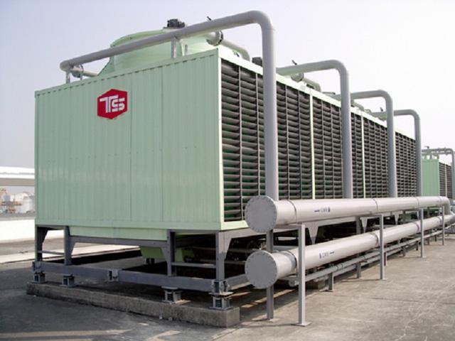 2 tổ hợp tháp giải nhiệt nước Tashin TSS 400RT 4Cell