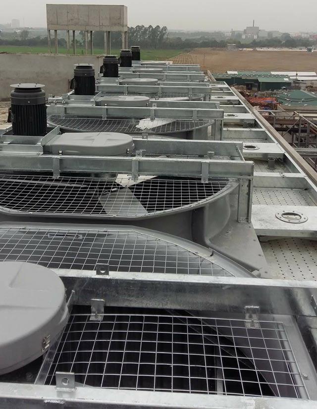 2 tổ hợp tháp giải nhiệt Tashin TSS 400RT 4Cell