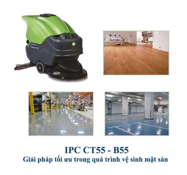 IPC CT55 B55 - Giải pháp tối ưu trong quá trình vệ sinh mặt sàn