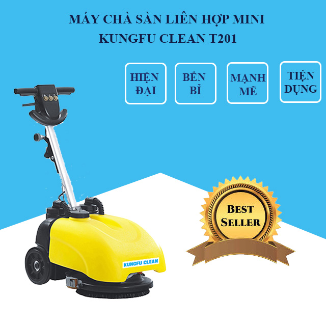Model chà sàn liên hợp mini Kungfu Clean T201
