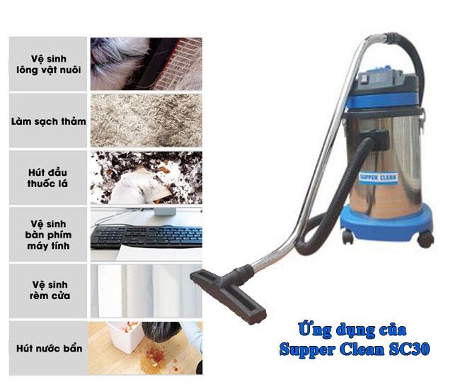 Supper Clean SC30 có khả năng làm sạch rất đa dạng