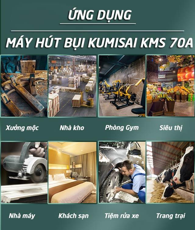 Máy hút bụi công nghiệp Kumisai KMS 70A