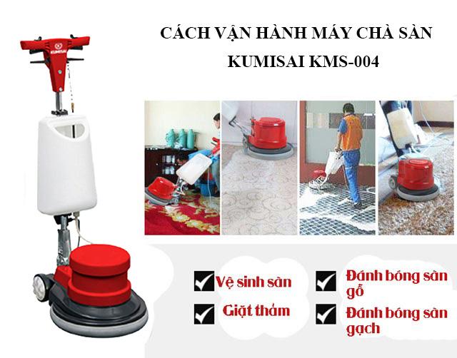 Hướng dẫn cách vận hành máy chà sàn đơn Kumisai KMS-004