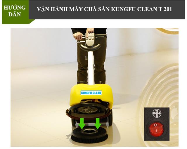 Cách làm việc với thiết bị chà sàn Kungfu Clean an toàn, hiệu quả