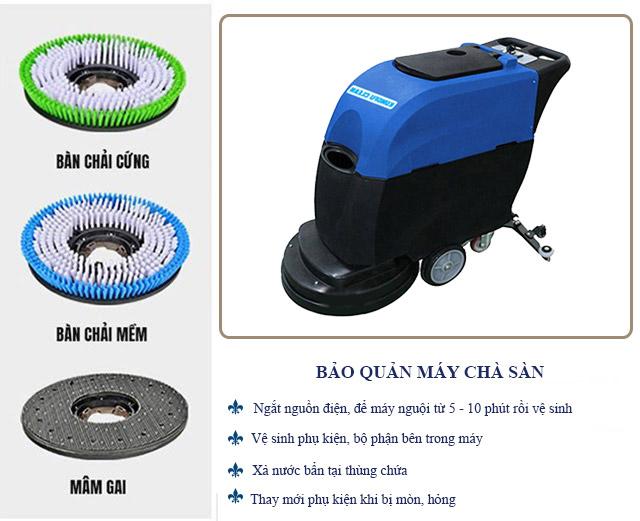 Hướng dẫn vệ sinh, bảo quản thiết bị chà sàn Kungfu Clean