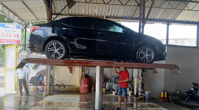 Cầu nâng rửa xe ô tô V-Jet 4.0