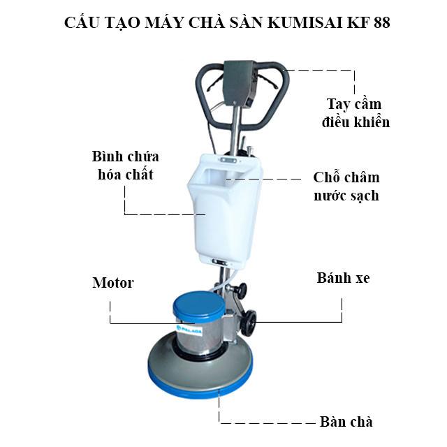 Cấu tạo model chà sàn Kumisai KF-88