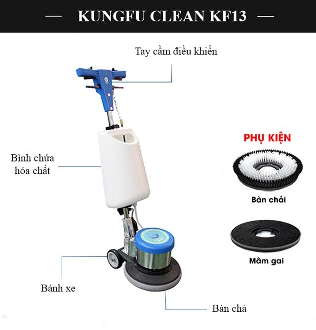 Cấu tạo model chà sàn Kungfu Clean KF13