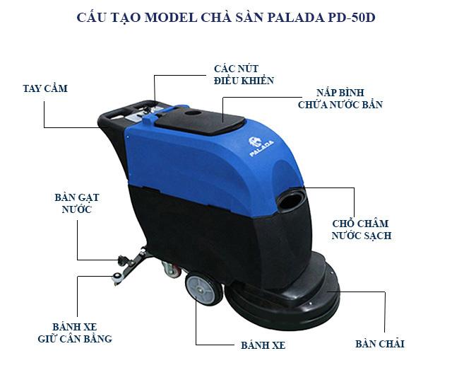 Cấu tạo model chà sàn Palada PD-50D