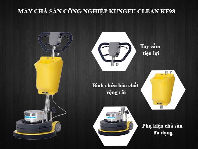 Kungfu Clean KF98 - Cấu tạo đơn giản, dễ sử dụng