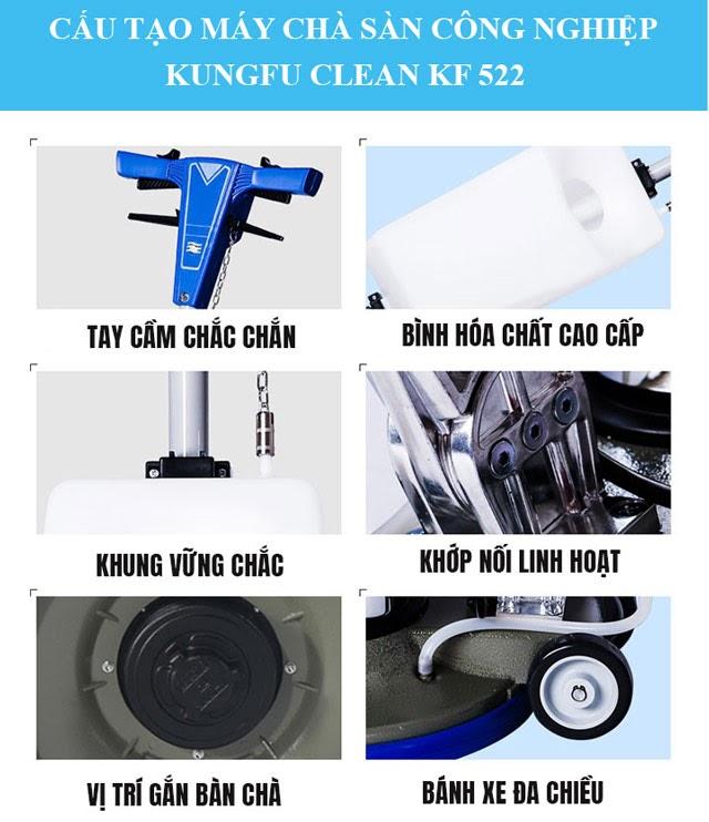 Cấu tạo và chức năng của model chà sàn Kungfu Clean KF 522