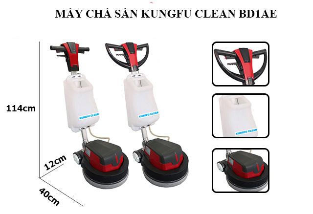 Kungfu Clean BD1AE - Cấu tạo đơn giản, thiết kế gọn nhẹ