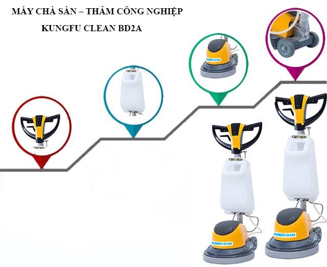 Cấu tạo thiết bị chà sàn Kungfu Clean BD2A