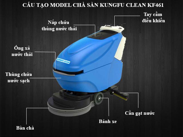 Cấu tạo model đánh sàn Kungfu Clean KF-461