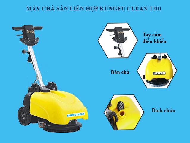Cấu tạo model chà sàn Kungfu Clean T201