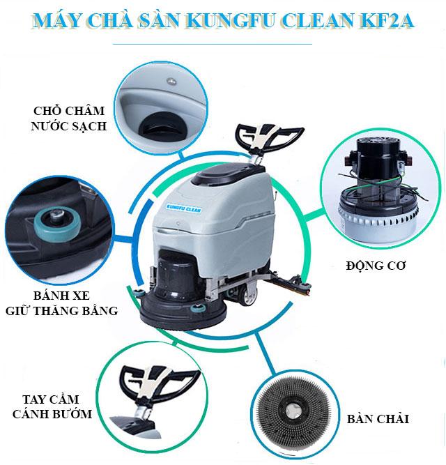 Cấu tạo model chà sàn liên hợp Kungfu Clean KF2A