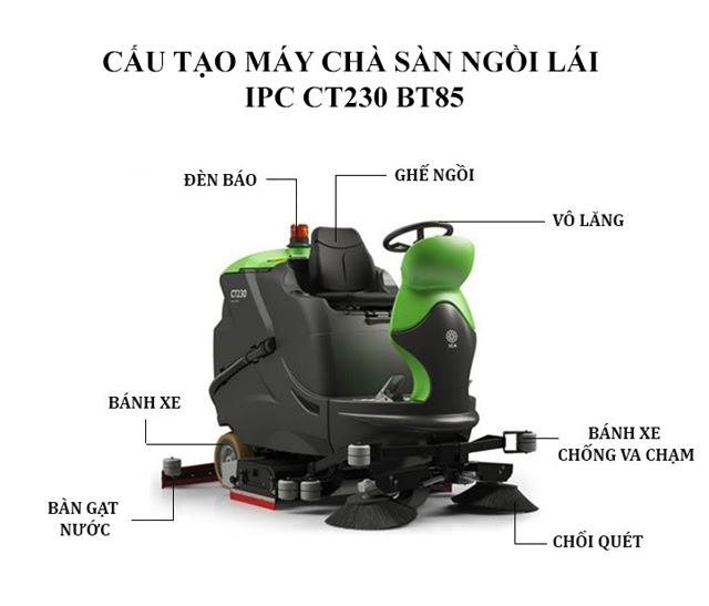 Cấu tạo máy chà sàn IPC CT230 BT85