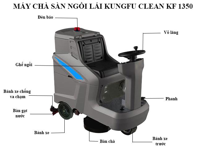 Cấu tạo model chà sàn Kungfu Clean KF-1350