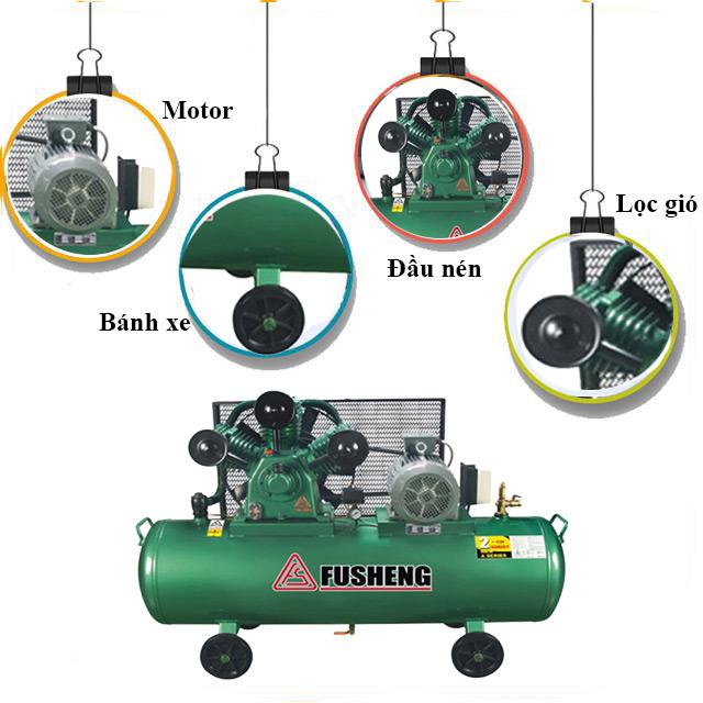 Cấu tạo model nén khí Fusheng TA-100
