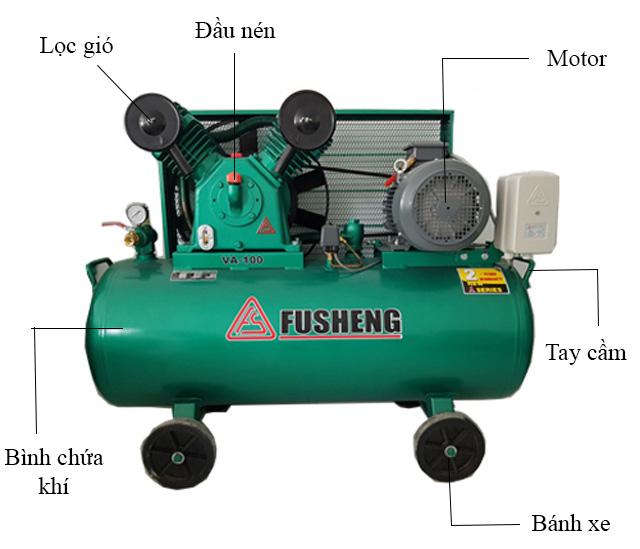 Cấu tạo máy nén khí Fusheng VA100