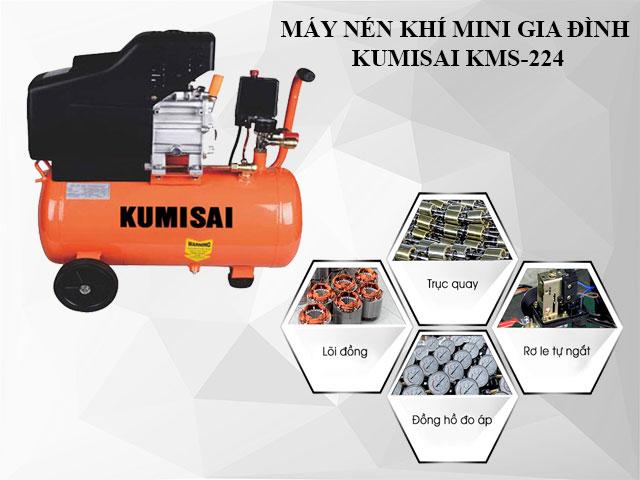 Cấu tạo model nén hơi mini Kumisai KMS-224