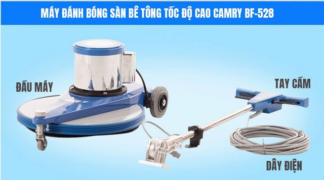 Đặc điểm cấu tạo và chức năng của máy đánh bóng sàn Camry BF-528