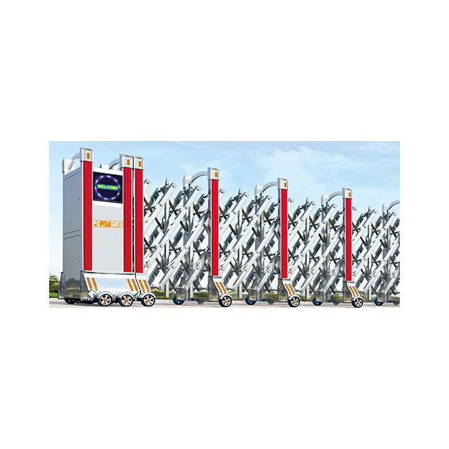 Cổng xếp inox chạy điện TC-J8905