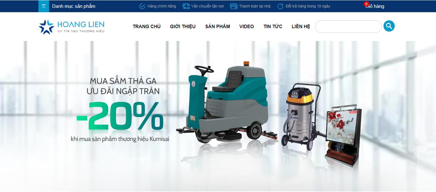 Website chính thức của điện máy Hoàng Liên