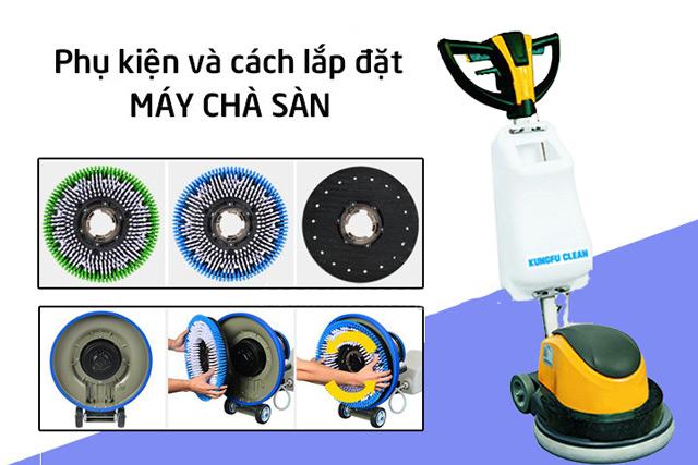 Cách lắp đặt thiết bị chà sàn Kungfu Clean