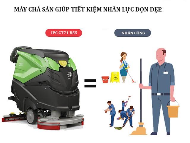 Sử dụng máy chà sàn IPC đem lại rất nhiều lợi ích cho doanh nghiệp