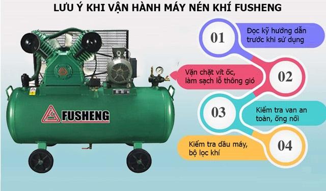 Lưu ý khi vận hành máy khí nén Fusheng