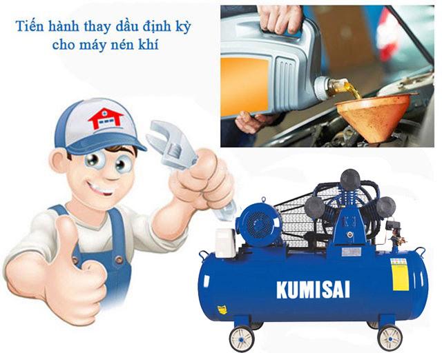 Lưu ý khi vận hành máy bơm khí nén Kumisai KMS-10200