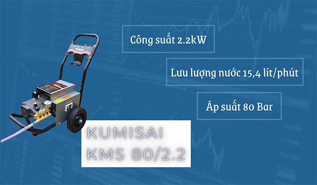Máy bơm rửa xe Kumisai 80/2.2 có công suất đáng kinh ngạc