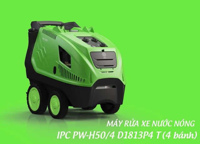 Máy bơm rửa xe nước nóng IPC PW-H50/4 D1813P4 T (4 bánh)