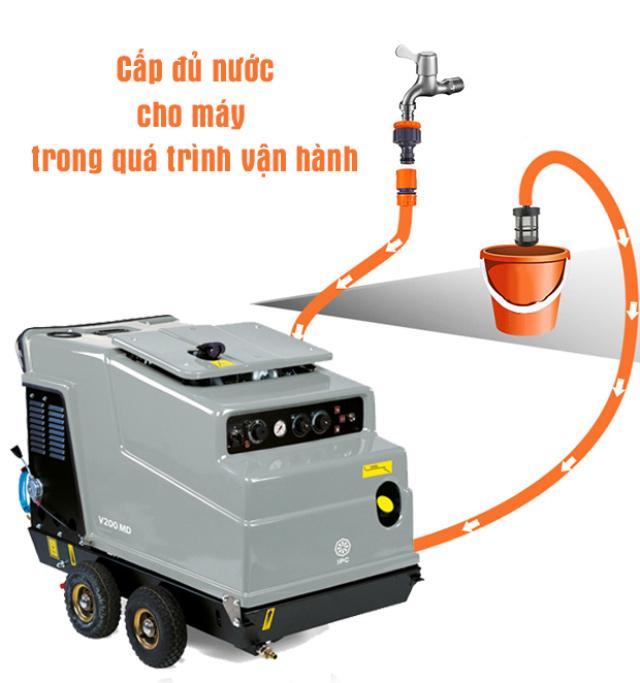 Máy bơm rửa xe nước nóng IPC V200 MD-H 2015 PiD