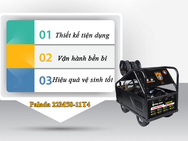 Ưu điểm của máy rửa xe công nghiệp Palada 22M58-11T4