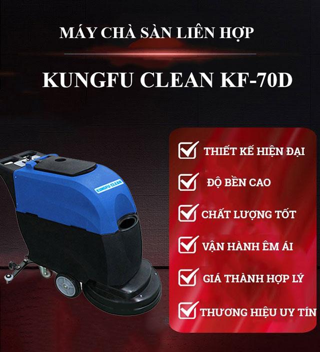 Model chà sàn liên hợp Kungfu Clean KF-70D