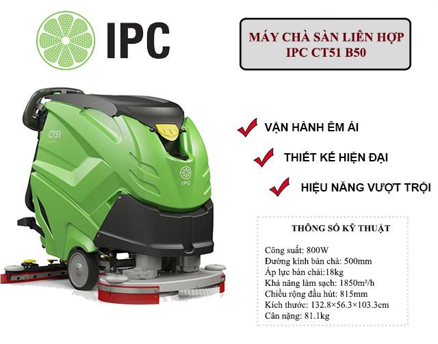 """""""Siêu phẩm"""" máy chà sàn liên hợp IPC CT51 B50"""