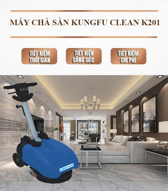 Model chà sàn liên hợp mini Kungfu Clean K201