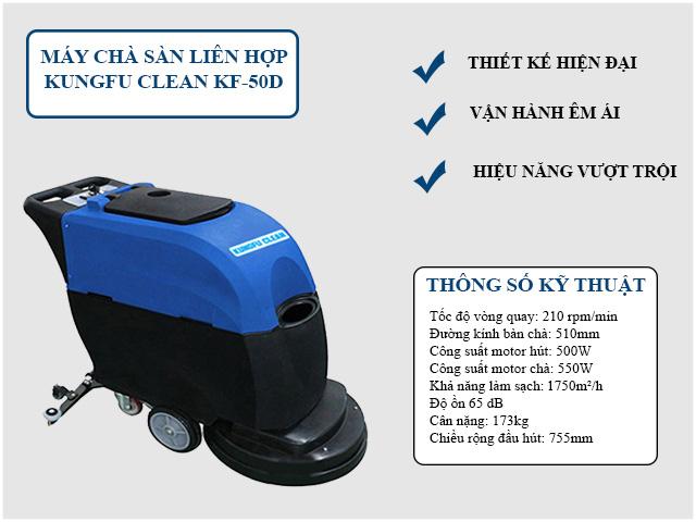 Model chà sàn liên hợp Kungfu Clean KF-50D