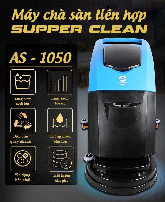 Máy chà sàn liên hợp Supper Clean AS-1050