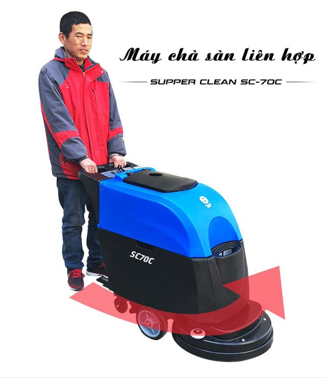 Máy chà sàn liên hợp Supper Clean SC70C-1