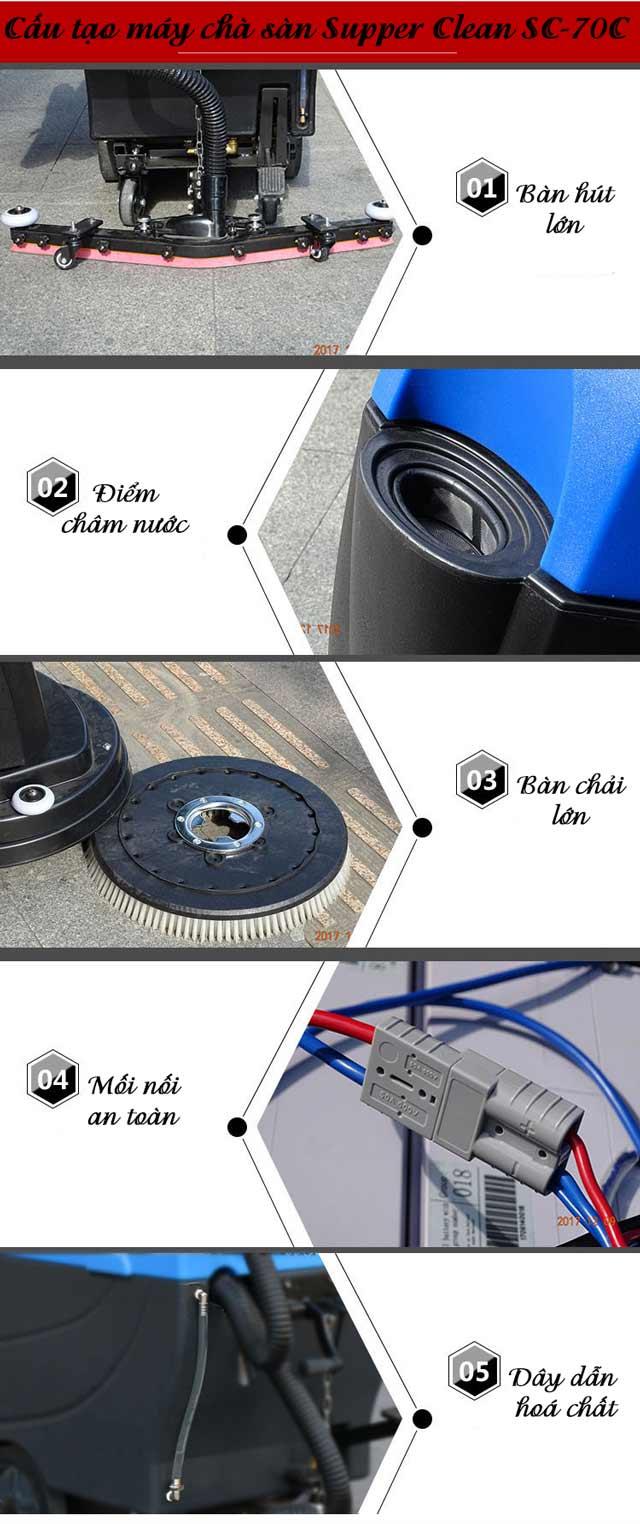 Máy chà sàn liên hợp Supper Clean SC70C-5
