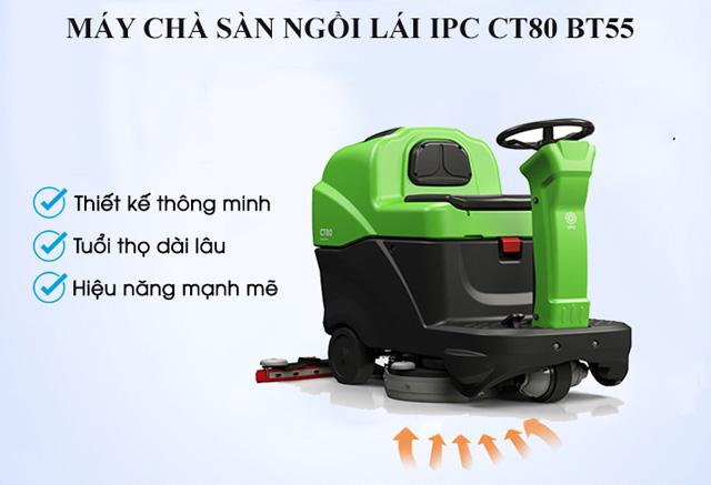 Model chà sàn ngồi lái IPC CT80 BT55