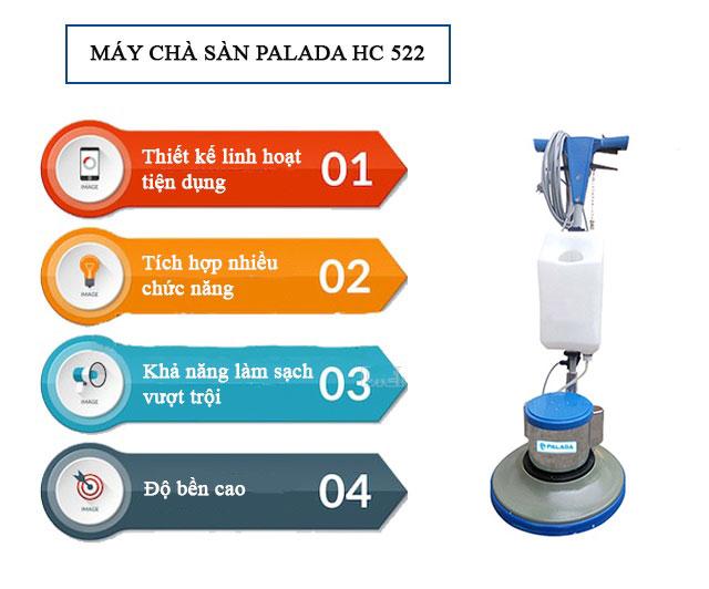 Ưu điểm của máy chà sàn Palada HC 522