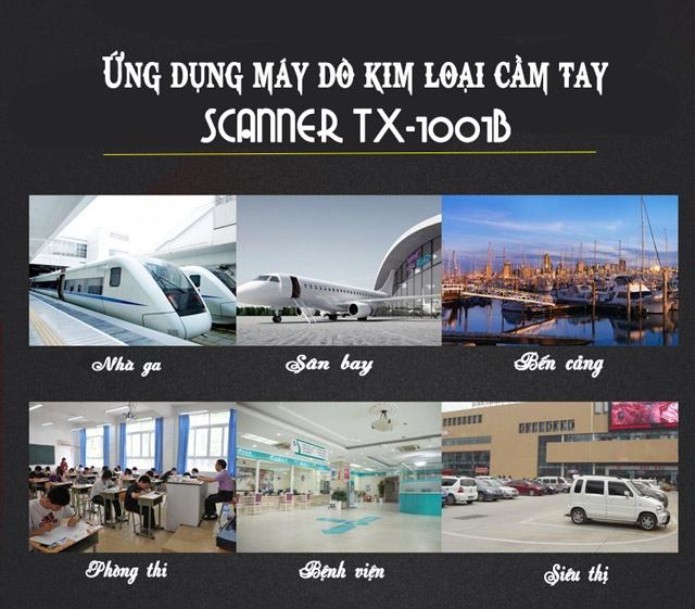 Ứng dụng rộng rãi trong nhiều lĩnh vực của Scanner TX-1001B