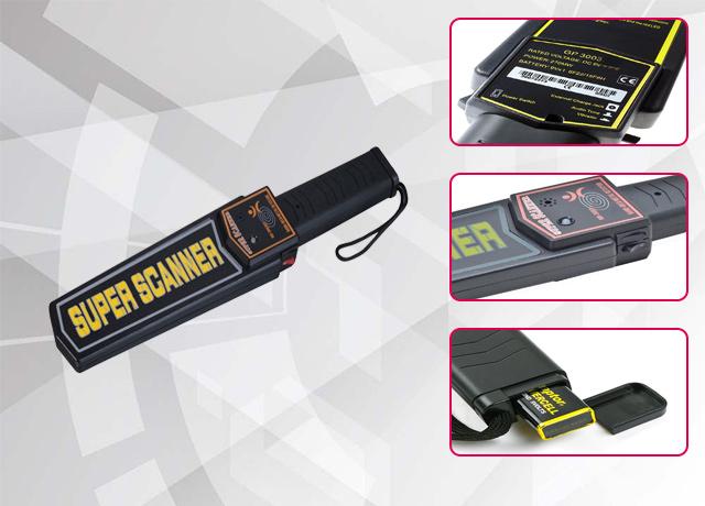 Cấu tạo của máy dò kim loại cầm tay Super Scanner MD3003