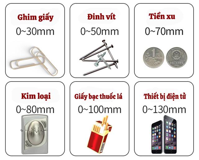 Khả năng dò tìm kim loại của MC-1001