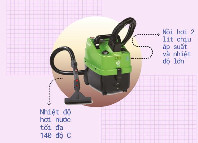 Hơi nước nóng 140 độ - tính năng đặc biệt của IPC SG30P