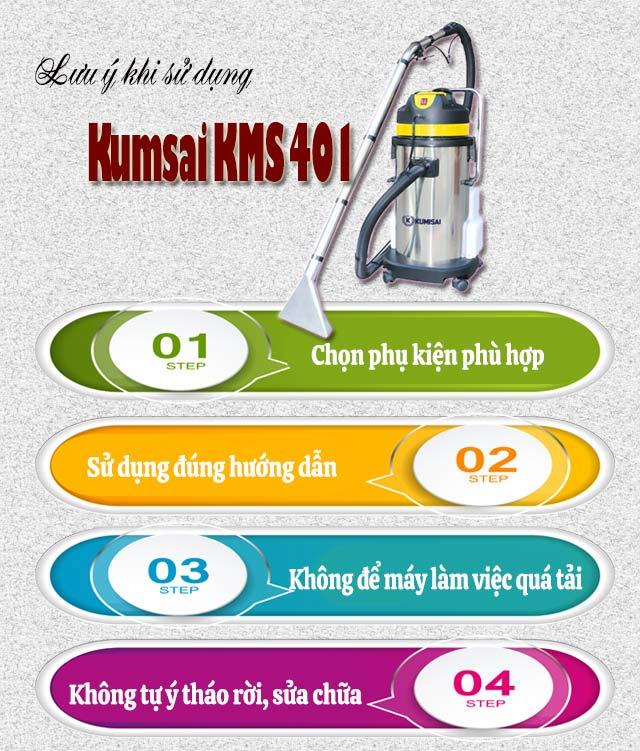 Lưu ý khi sử dụng model Kumisai KMS 401